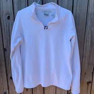 NIKE GOLF white lightweight pullover Sz L